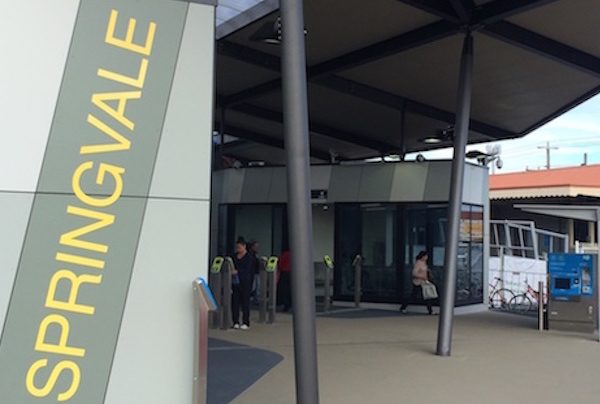 Springvale station entrance