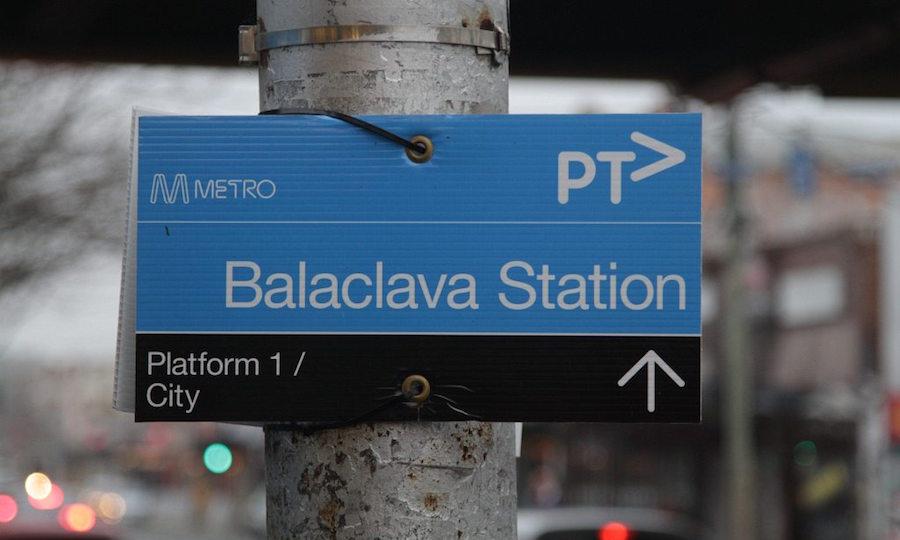 Balaclava station sign