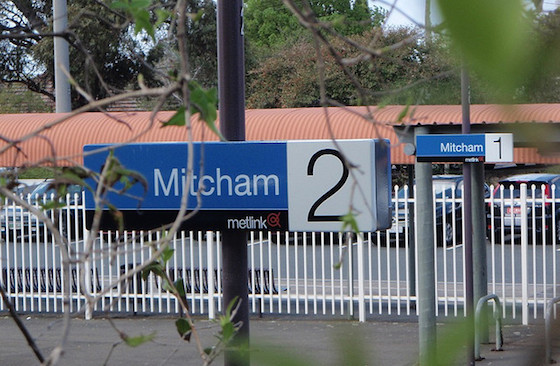 Mitcham Station Sign